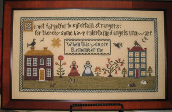 Abby Rose Designs - Angels Unaware-Abby Rose - Angels Unaware, angels, country, bible verses, cross stitch patterns