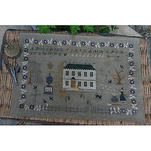 Stacy Nash Primitives - Halloween at Hollyberry Farm-Stacy Nash Primitives - Halloween at Hollyberry Farm, farms, sampler, witch, black cat, RIP, primitive, cross stitch,