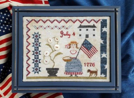 Samplers Not Forgotten - Fourth of July Picnic-Samplers Not Forgotten - Fourth of July Picnic, , Abigail Adams, America, patriotic, USA, American flag, cross stitch