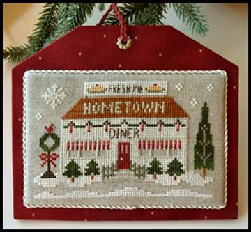 Little House Needleworks - Hometown Holiday - Diner-Little House Needlework - Hometown Holiday - Diner, lunch counter, Christmas, meals, cross stitch