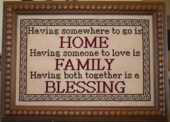 Needle Bling Designs -  Family Blessings - Cross Stitch Pattern