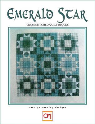 Carolyn Manning Designs - Emerald Star-Carolyn Manning Designs - Emerald Star, quilt, green, birthstone, cross stitch