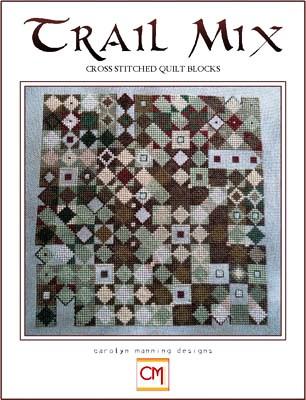 Carolyn Manning Designs - Trail Mix-Carolyn Manning Designs - Trail Mix, quilt, tans, quilt squares, cross stitch