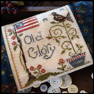 Little House Needleworks - Old Glory-Little House Needleworks,  Old Glory, patriotic, USA, American Flag, Cross Stitch Pattern