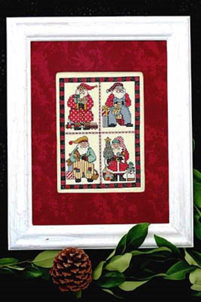 Bobbie G. Designs - Scrapbook Santa - Cross Stitch Pattern-Bobbie G. Designs, Scrapbook Santa, Santa Claus, scrap booking, Christmas, Cross Stitch Pattern