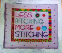 Amy Bruecken Designs - More Stitching - Cross Stitch Pattern-Amy Bruecken Designs, More Stitching, just do it, complain, Cross Stitch Pattern