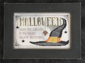 Waxing Moon Designs - Halloween Cobwebs-Waxing Moon Designs, Halloween Cobwebs, spiders, Halloween, bugs, witches hat, spider webs,  Cross stitch pattern