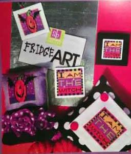 Amy Bruecken Designs - Fridge Art - I Am The Witch-Amy Bruecken Designs - Fridge Art - I Am The Witch, halloween, witch, bats, pumpkins, refrigerator magnets, cross stitch patterns