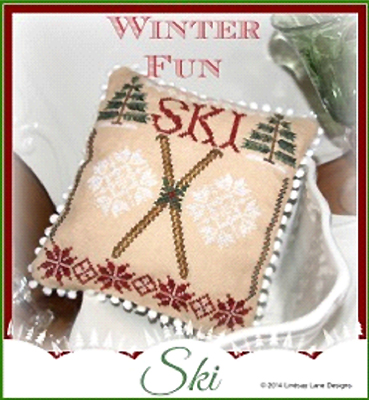 Lindsay Lane Designs - Winter Fun - Ski-Lindsay Lane Designs, Winter Fun, Ski, Cross Stitch Pattern