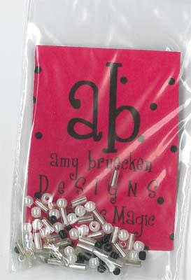 Amy Bruecken Designs - Christmas Magic Embellishment Pack-Amy Bruecken Designs - Christmas Magic Embellishment Pack, buttons, pearls, beads, cross stitch