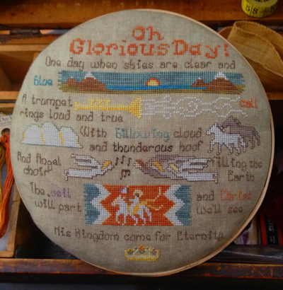 Lone Elm Lane - Oh Glorious Day!-Lone Elm Lane - Oh Glorious Day, God, bible verses, Kingdom of Heaven, cross stitch,