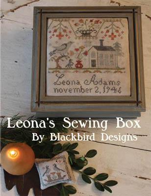 Blackbird Designs - Leona's Sewing Box-Blackbird Designs - Leonas Sewing Box, tools, pins, needles, sewing basket, threads, cross stitch