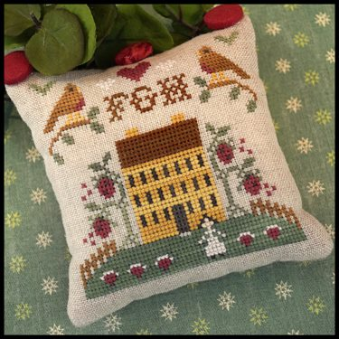 Little House Needleworks - ABC Samplers - FGH-Little House Needleworks - ABC Samplers - FGH, SAMPLERS, cross stitch, house, pin cushions, pillow,