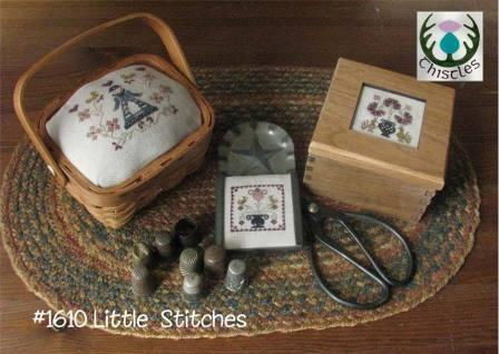 Thistles - Little Stitches-Thistles - Little Stitches, smalls, flowers, little girls,