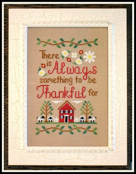 Country Cottage Needleworks - To Be Thankful-Country Cottage Needleworks - To Be Thankful, Thanksgiving, Thank God, grateful, sheep, home, family, cross stitch