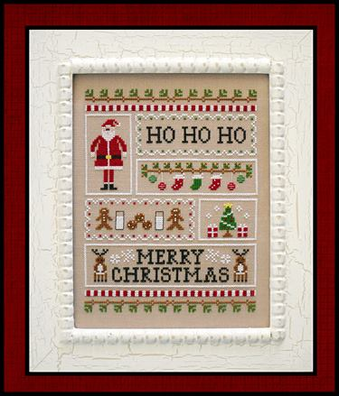 Country Cottage Needleworks - Santa's Sampler-Country Cottage Needleworks - Santas Sampler, Christmas, Santa claus, gingerbread, stockings,