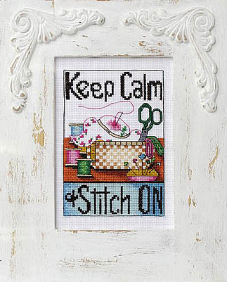 Bobbie G. Designs - Keep Calm & Stitch On - Cross Stitch Pattern-Bobbie G. Designs, Keep Calm  Stitch On, crafts, no stress, relax, Cross Stitch Pattern