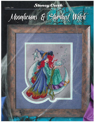 Stoney Creek Collection - Moonbeams & Stardust Witch - Cross Stitch Pattern-Stoney Creek Collection, Moonbeams  Stardust Witch, witches, moon, stars, Cross Stitch Pattern