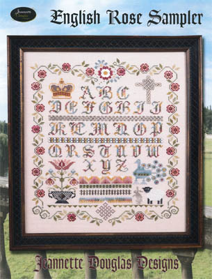 Jeannette Douglas Designs - English Rose Sampler - Cross Stitch Pattern-Jeannette Douglas Designs, English Rose Sampler, 2015 Nashville Release. Cross Stitch Pattern