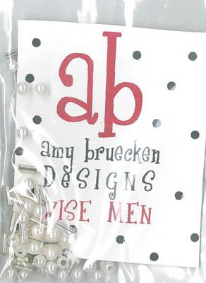 Amy Bruecken Designs - Three Wise Men Embellishment Pack-Amy Bruecken Designs - Three Wise Men Embellishment Pack, beads, buttons, cross stitch