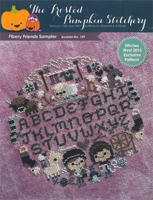 The Frosted Pumpkin Stitchery - Fibery Friends Sampler-The Frosted Pumpkin Stitchery - Fibery Friends Sampler, wool, threads, sheep, llama, cross stitch
