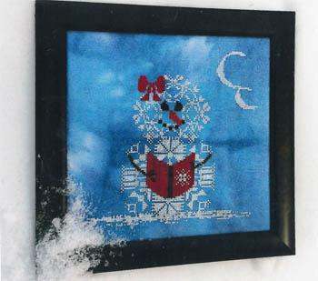 AuryTM - Too Cool-AuryTM - Too Cool, snowlady, reading, snow, winter, cross stitch