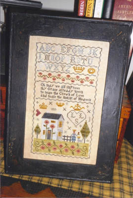 Chessie & Me - Rose & Crown Sampler-Chessie  Me - Rose  Crown Sampler, house, samplers, primitive, cross stitch