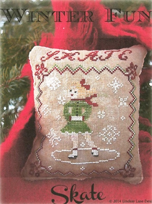 Lindsay Lane Designs - Winter Fun - Skate-Lindsay Lane Designs, Winter Fun, Skate, ice skating, Cross Stitch Pattern