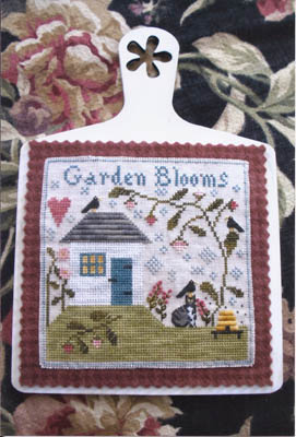 Chessie & Me - Garden Blooms-Chessie  Me - Garden Blooms. home, house, crow, cat, garden, bee skep, bee hive, flowers, heart, cross Stitch,