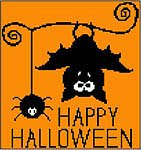 Keslyn's - Just Hangin' Around-Keslyns - Just Hangin Around, halloween, bats, ornaments, cross stitch