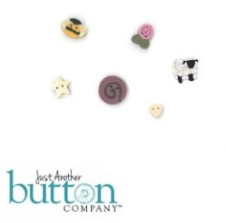 Just Another Button Company - Summer Trifles Button Pack-Just Another Button Company - Summer Trifles Button Pack, lamb, bee, star, heart, flower,