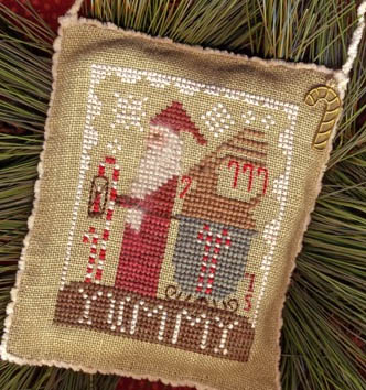 Homespun Elegance - 2015 Santa Ornament - Delivering Yummies-Homespun Elegance - 2015 Santa Ornament - Delivering Yummies, Santa Claus, sleigh, Christmas Eve, Christmas,