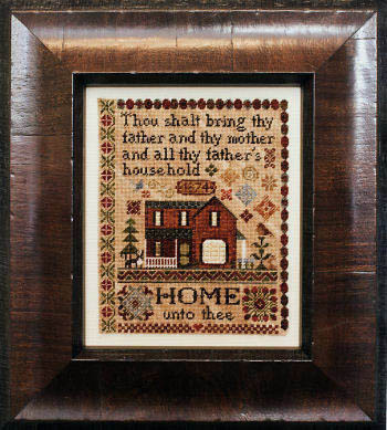Erica Michaels Needleart Designs - Home Unto Thee-Erica Michaels - Home Unto Thee, Joshua 218,