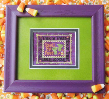 T.A. Smith Designs - Smell My Feet!!-T.A. Smith Designs - Smell My Feet, Halloween, trick or treat, cross stitch,