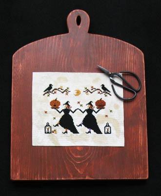 Primitive Needleworks - Hallow's Eve Dance-Primitive Needleworks - Hallows Eve Dance, Halloween, witches, moonlight, fall, pumpkin,