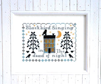 Tiny Modernist - Blackbird Singing-Tiny Modernist - Blackbird Singing, Beatles, songs, birds, singing, cross stitch,