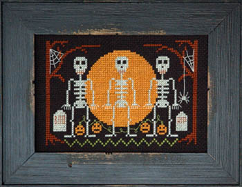 Tiny Modernist - Halloween Skeletons-Tiny Modernist - Halloween Skeletons, Halloween, fall, pumpkins, trick or treat, cross stitch
