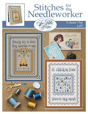 Sue Hillis Designs - Stitches for the Needleworker - Volume 1-Sue Hillis Designs - Stitches for the Needleworker - Volume 1, Stitching, sewing, bee hive, spools, bees,