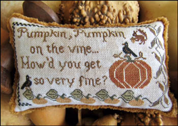 The Scarlett House - Pumpkin, Pumpkin-The Scarlett House - Pumpkin, Pumpkin, fall, harvest, crow, squirrel, acorn, cross stitch