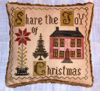Abby Rose Designs - Share The Joy Of Christmas-Abby Rose Designs - Share The Joy Of Christmas, ornament, christmas, love, pincushion, cross stitch