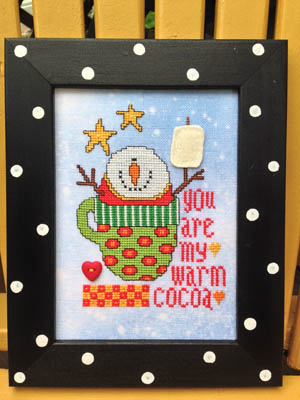 Amy Bruecken Designs - Cup of Happy-Amy Bruecken Designs - Cup of Happy, snowman, hot cocoa, winter, marshmallow, cross stitch