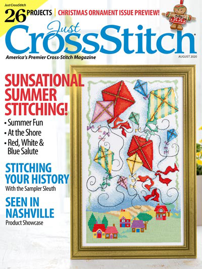 Just Cross Stitch - 2020 #4 July/August - Christmas Ornament Preview Issue-Just Cross Stitch - 2020 4 JulyAugust, Christmas Ornament Preview Issue, Summer, ocean, seaside, seagulls, beach, sand, cross stitch