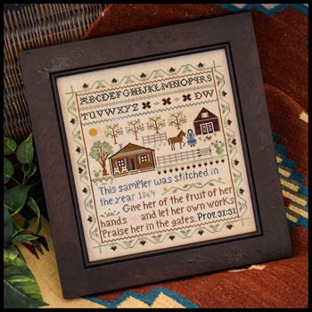 Little House Needleworks - Homestead Sampler-Little House Needleworks - Homestead Sampler, Prov. 3131, farm,sampler, cross stitch