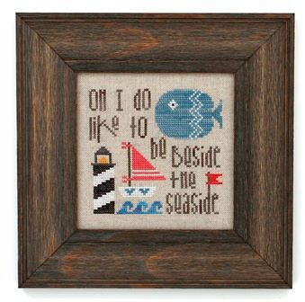 Heart in Hand Needleart - Beside the Seaside-Heart in Hand Needleart - Beside the Seaside, sailboat, fish, lighthouse, ocean, cross stitch,