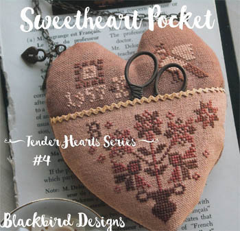 Blackbird Designs - Tender Hearts Series - #4 - Sweetheart Pocket-Blackbird Designs - Tender Hearts Series - 4 - Sweetheart Pocket