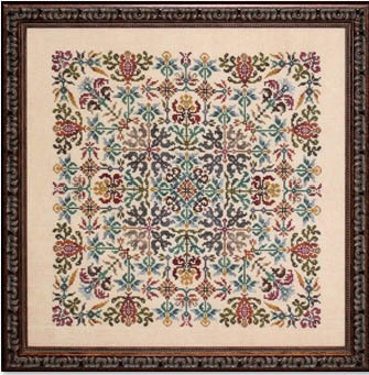 Ink Circles - Tapestry-Ink Circles - Tapestry, stitching, geometrical, flowers, cross stitch