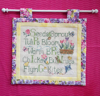 Waxing Moon Designs - Spring Things-Waxing Moon Designs - Spring Things, flowers, sunshine, summer, cross stitch