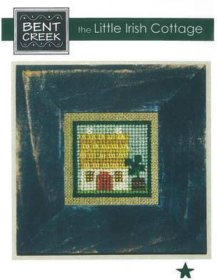 Bent Creek - The Little Irish Cottage-Bent Creek - The Little Irish Cottage, shamrock, 4 leaf clover, thatched hut, cross stitch