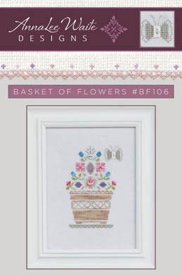 AnnaLee Waite Designs - Basket of Flowers Exclusive Kit-AnnaLee Waite Designs - Basket of Flowers Exclusive Kit, flowers, weeks dye works, cross stitch