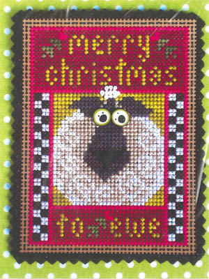 Val's Stuff - Merry Christmas to Ewe Kit-Vals Stuff - Merry Christmas to Ewe Kit, sheep, lamb, Christmas, cross stitch,